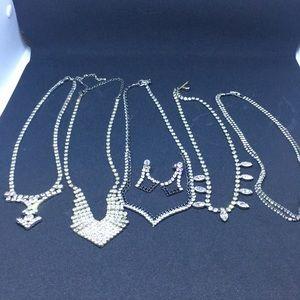 Rhinestone Necklace Bundle